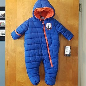 One piece bunting snowsuit